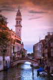 Zonsondergang Venetië Stock Foto