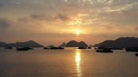 Zonsondergang in Vietnam royalty-vrije stock foto