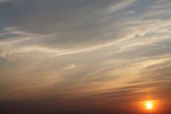 Zonsondergang voor achtergrond Stock Afbeelding