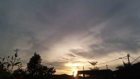 Zonsondergang in vrede Stock Foto's