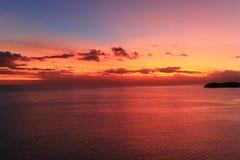 Zonsondergang in vreedzaam Stock Afbeeldingen