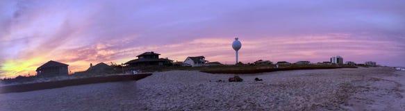 Zonsondergang in Wilmington royalty-vrije stock afbeeldingen