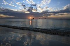 Zonsondergang in Zanzibar royalty-vrije stock afbeelding