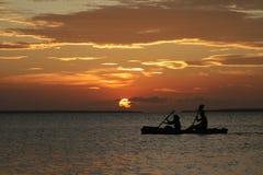 Zonsondergang in Zanzibar Royalty-vrije Stock Afbeeldingen