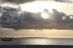 Zonsondergang in Zanzibar Stock Foto's