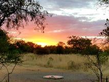 Zonsondergang in Zebula royalty-vrije stock afbeeldingen