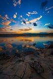 Zonsondergang of zonsopgang stock foto's