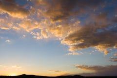 Zonsondergang of zonsopgang stock fotografie