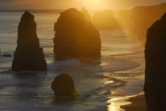 Zonsondergang, Zuid-Australië Royalty-vrije Stock Foto's