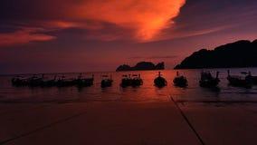 Zonsondergangaard Thailand Royalty-vrije Stock Afbeelding