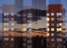 Zonsondergangbezinning Stock Afbeeldingen