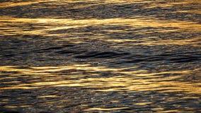 Zonsondergangbezinningen over de oceaan Royalty-vrije Stock Fotografie