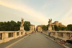 Zonsondergangdagen in Rome stock foto's