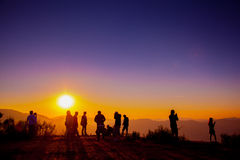 Zonsonderganggezichtspunt Stock Fotografie