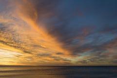 Zonsonderganghemel over Normanville-Strand, Zuid-Australië Stock Afbeeldingen