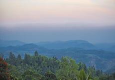 Zonsondergangkleuren van Sri Lanka Stock Fotografie