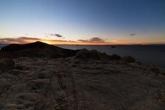 Zonsonderganglicht op het Eiland van de Zon, Titicaca-Meer, onder de meest toneelreisbestemming in Bolivië Expansief panorama met stock afbeelding