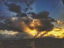 Zonsondergangmening stock foto