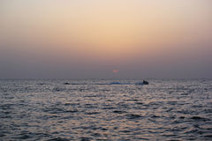 Zonsondergangmening in Atlantis Doubai Stock Fotografie