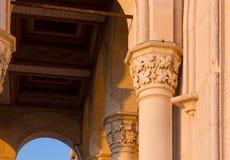 Zonsondergangmening van een Buitendetail van Miramare-Kasteel in Triëst Royalty-vrije Stock Foto