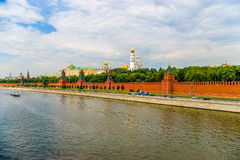 Zonsondergangmening van het Kremlin in Moskou, Rusland Royalty-vrije Stock Foto