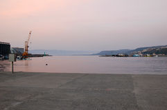 Zonsondergangmening in Vibo-Jachthaven Royalty-vrije Stock Fotografie