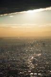 Zonsondergangogenblik van woonwijk van Tokyo Japan Stock Afbeelding