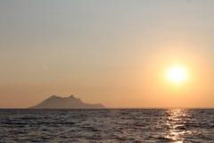 Zonsondergangoverzees royalty-vrije stock fotografie