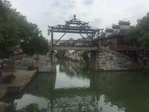 Zonsondergangscemetery in Taihu, Suzhou royalty-vrije stock foto