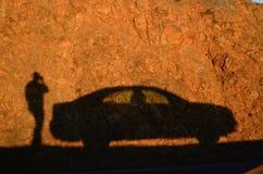 Zonsondergangschaduw Royalty-vrije Stock Afbeelding