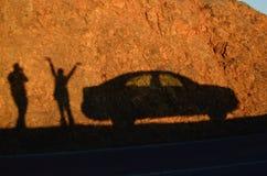 Zonsondergangschaduw Stock Foto