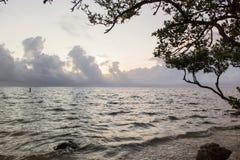 Zonsondergangstrand, Florida stock foto