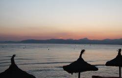 Zonsondergangtijd Mallorca Royalty-vrije Stock Fotografie
