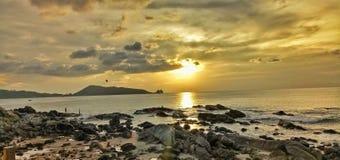 Zonsondergangtijd patong royalty-vrije stock fotografie