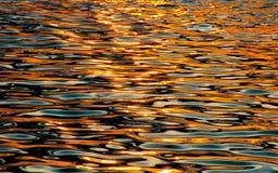 Zonsondergangwater Royalty-vrije Stock Afbeelding