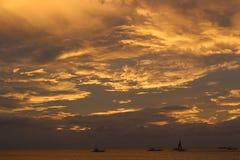 Zonsondergangwolken Stock Fotografie
