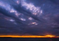 Zonsondergangwolken Royalty-vrije Stock Foto's
