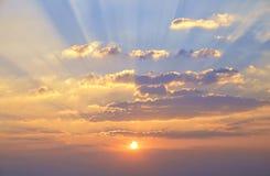 Zonsondergangwolken Royalty-vrije Stock Afbeeldingen