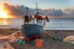 Zonsopgang in Aldeburgh in Suffolk stock afbeeldingen