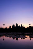 Zonsopgang in Angkor Wat Royalty-vrije Stock Afbeelding