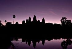 Zonsopgang in Angkor Wat Stock Afbeelding