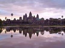 Zonsopgang in Angkor Wat Cambodia royalty-vrije stock afbeeldingen