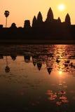 Zonsopgang in Angkor Wat in Kambodja Stock Fotografie