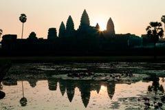 Zonsopgang in Angkor Wat, Kambodja Stock Fotografie