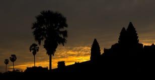 Zonsopgang in Angkor Wat Kambodja Stock Foto's