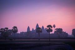 Zonsopgang in Angkor Wat, Kambodja Stock Afbeeldingen