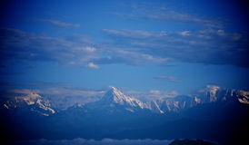 Zonsopgang Annapurna Himal, Nepal Himalayagebergte royalty-vrije stock afbeelding