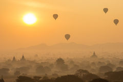 Zonsopgang in bagan Royalty-vrije Stock Foto