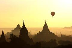 Zonsopgang in Bagan, Myanmar Stock Foto