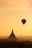 Zonsopgang in Bagan2, Myanmar Stock Foto
